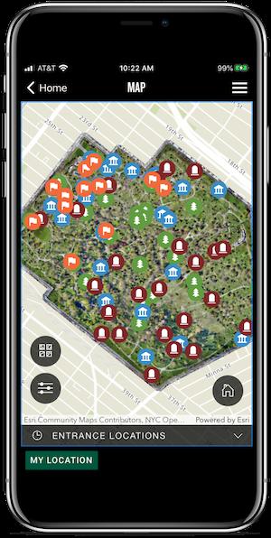 app overhead map view